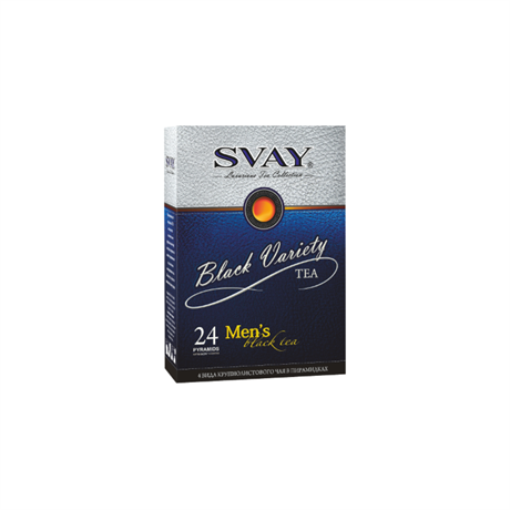 Набор чая SVAY Black Variety Men's 24 пирамидки (4 вида) - фото 10207