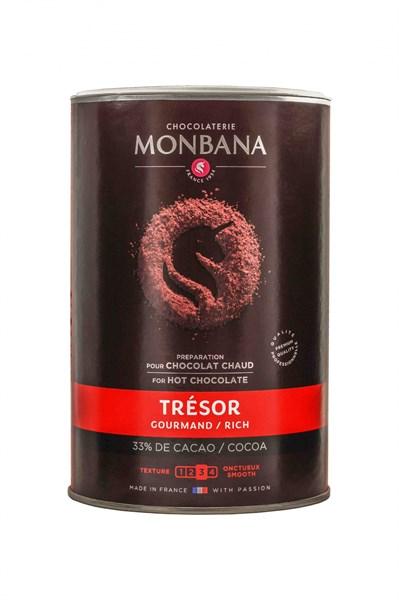 """Горячий шоколад Monbana """"Шоколадное сокровище"""", банка 1 кг - фото 10690"""
