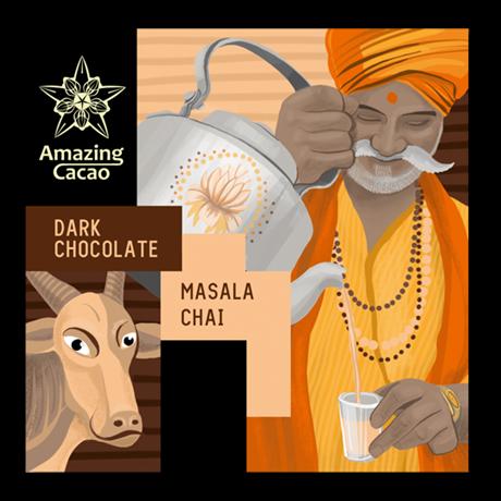 Шоколад Amazing Cocao Масала, 60 г - фото 11367