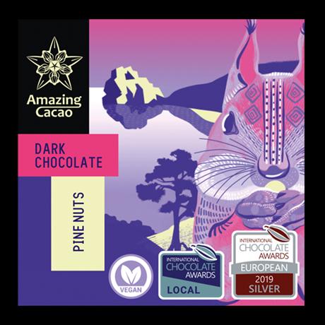Шоколад Amazing Cocao Кедровый орех, 60 г - фото 11369