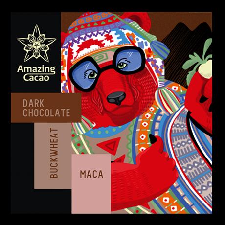Шоколад Amazing Cocao Гречневая крупа с Макой, 60 г - фото 11371