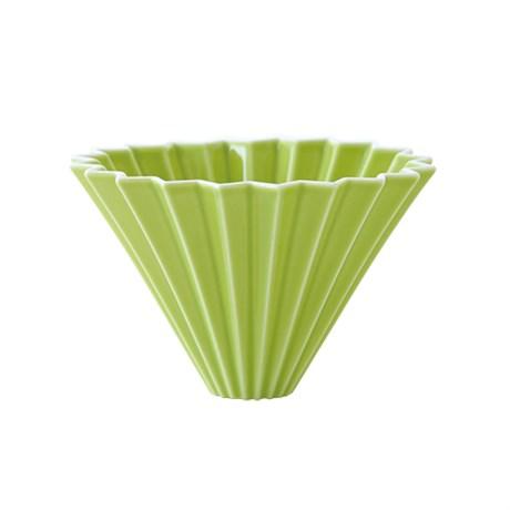 Воронка для кофе ORIGAMI, зеленая, размер M - фото 11952