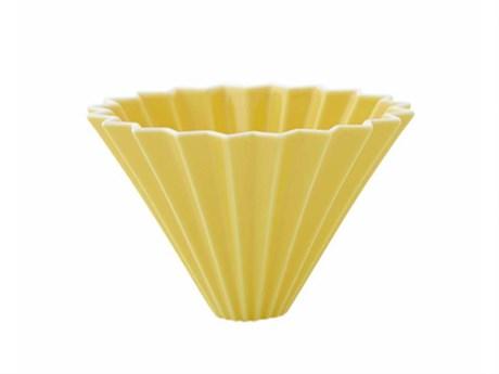 Воронка для кофе ORIGAMI, желтая, размер M - фото 11955