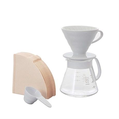 Чайник и керамическая воронка V60 HARIO XVDD-3012W, 600 мл - фото 12230