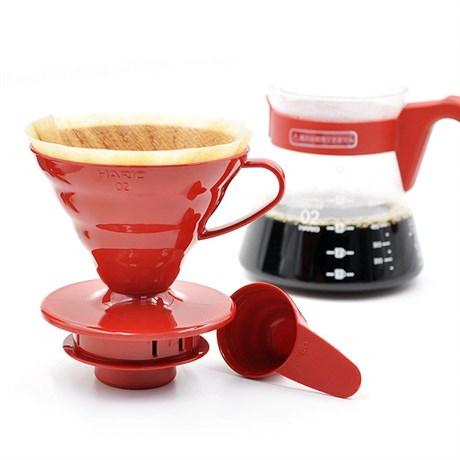 Кофейный набор HARIO: воронка пластковая, чайник и фильтры - фото 12238