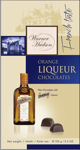"""Шоколадные конфеты """"Warner Hudson"""" с ликером Куантро, 150г - фото 12301"""