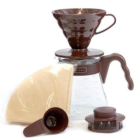 Кофейный набор HARIO, воронка V60, фильтры и кофейник 700 мл - фото 12410
