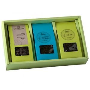 """Набор чая Tea Point """"Чай и шоколад"""" 2 вида чая по 50 г и темный шоколад 100 г - фото 9615"""