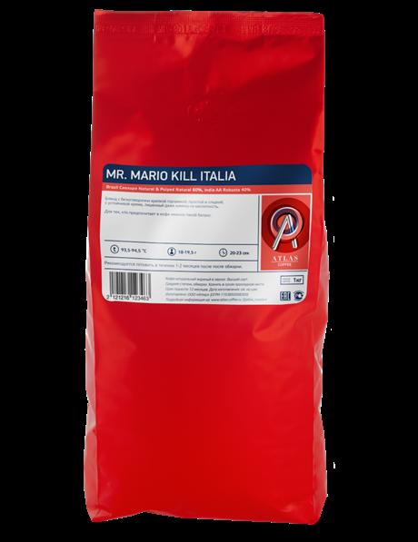 Кофе в зернах Atlas Mr. Mario kill Italia, 1 кг - фото 9663