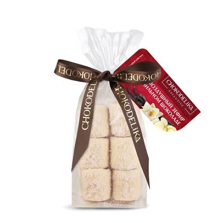 """Конфеты """"Воздушный зефир в ванильном шоколаде"""" в пакете с ленточкой 55 г - фото 9795"""