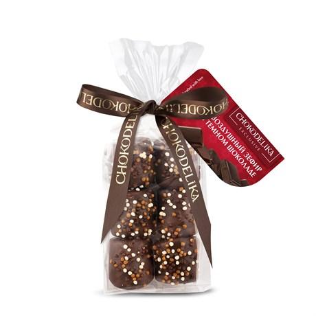 """Конфеты """"Воздушный зефир в темном шоколаде"""" в пакете с ленточкой 55 г - фото 9797"""