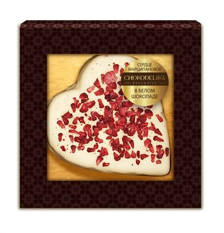 """Конфета """"Сердце марципановое в белом шоколаде"""" 30г, в блистере - фото 9801"""