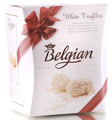 """Конфеты трюфели """"The Belgian"""" из белого шоколада в хлопьях, 145г - фото 9836"""