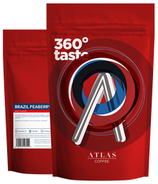 Кофе в зернах Atlas Brazil Peaberry, 1 кг
