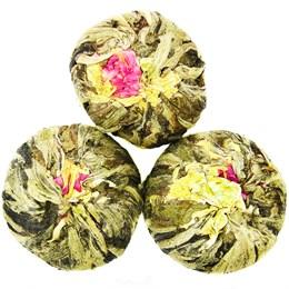 Зеленый чай Персик бессмертия с жасмином связанный, 100 г