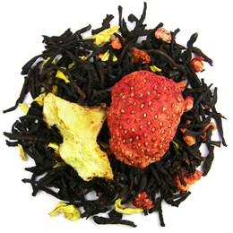 Черный чай Дыня-клубника, 100 г