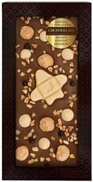 """Шоколад молочный CHOKODELIKA с украшением """"Фундук, крокант, карамель"""", 100 г"""