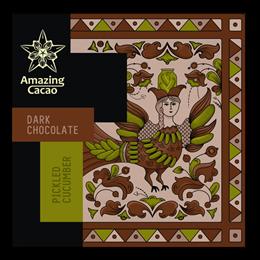 Шоколад Amazing Cocao Соленый огрурец и душистый перец, 60 г