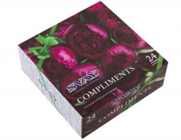 """Чайный набор SVAY """"Compliments Peonies"""", черный и зеленый, 24 пирамидки"""