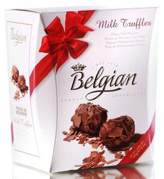 """Шоколадные конфеты """"The Belgian"""", трюфели из молочного шоколада в хлопьях, 145 г"""